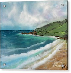 Walking On The Sand Acrylic Print