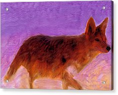 Acrylic Print featuring the painting Walking Strong by FeatherStone Studio Julie A Miller