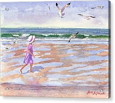 Walking The Cape Acrylic Print by Laura Lee Zanghetti