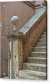 Walking The Castel Acrylic Print by JAMART Photography