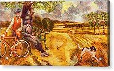 Walking The Dog After Gainsborough Acrylic Print