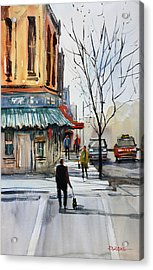 Walking The Dog Acrylic Print by Ryan Radke