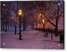 Walking The Path On Salem Common Acrylic Print by Jeff Folger