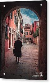 Walking Through Time - Venice, Italy Acrylic Print