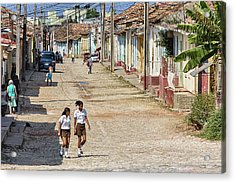 Walking To School Acrylic Print