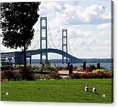 Walking To The Bridge Acrylic Print