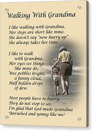 Walking With Grandma Acrylic Print