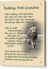 Walking With Grandma Acrylic Print by Dale Kincaid