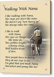 Walking With Nana Acrylic Print