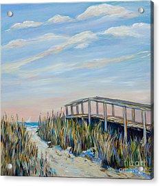 Walkway By Pier Acrylic Print