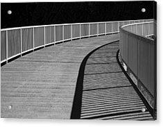 Walkway Acrylic Print by Chevy Fleet