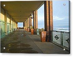 Walkway Convention Hall Acrylic Print by Andrew Kazmierski