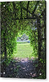Walkway From Greenhouse Acrylic Print