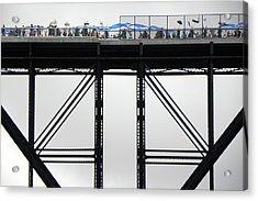 Walkway Over The Hudson 2009 Opening Day Celebration Acrylic Print by Joseph Duba