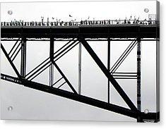 Walkway Over The Hudson No 11  Opening Day 2009 Acrylic Print by Joseph Duba