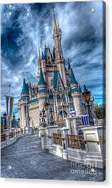 Walkway To Cinderellas Castle Acrylic Print