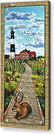 Walkway To Fire Island Lighthouse Acrylic Print