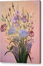 Acrylic Print featuring the painting Wall Art by Barbara Hayes