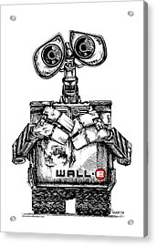 Wall-e Acrylic Print by James Sayer