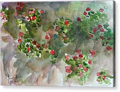 Wall Flowers Acrylic Print by Janet Butler
