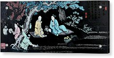 Wall Mural In Qibao - Shanghai - China Acrylic Print by Christine Till