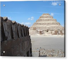 Wall Of Cobras At The Step Pyramid Acrylic Print