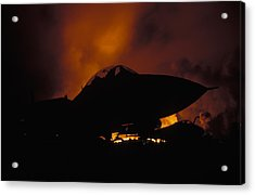 Wall Of Fire Acrylic Print by John Clark