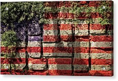 Wall Of Liberty Acrylic Print by Wim Lanclus