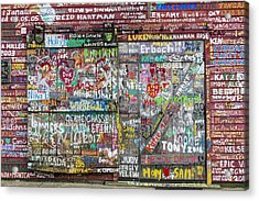 Acrylic Print featuring the photograph Wall Of Love by Joel Witmeyer