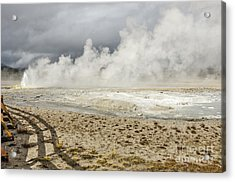 Acrylic Print featuring the photograph Wall Of Steam by Sue Smith