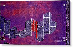 Wall Of Violet Textures Acrylic Print