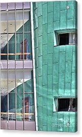 Wall Of Windows Acrylic Print by Stephen Mitchell