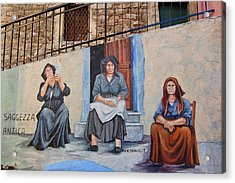 Wall Painting Acrylic Print by Contemporary Art