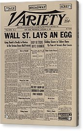 Wall Street Lays An Egg. Famous Acrylic Print by Everett