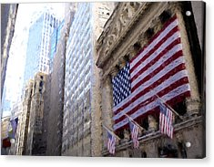 Wall Street, Nyc Acrylic Print by Matthew Ashton