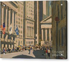Wall Street Acrylic Print by Vladimir Kozma