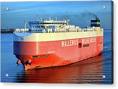 Acrylic Print featuring the photograph Wallenius Wilhelmsen Thermopylae 9702443 On The Patapsco River by Bill Swartwout Fine Art Photography