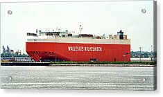 Acrylic Print featuring the photograph Wallenius Wilhelmsen Tombarra 9319753 At Curtis Bay by Bill Swartwout Fine Art Photography
