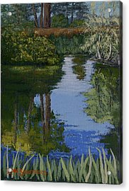 Waller Park Pond Acrylic Print by Ron Smothers