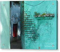 Acrylic Print featuring the photograph Walls by Jean luc Comperat