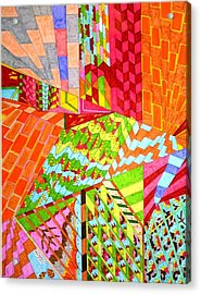 Walls Of Deception Acrylic Print by Eric Devan