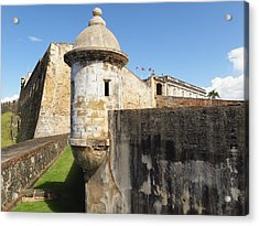 Walls Of San Cristobal Fort San Juan Puerto Rico  Acrylic Print by George Oze