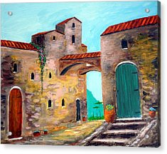 Walls Of Time Acrylic Print by Larry Cirigliano
