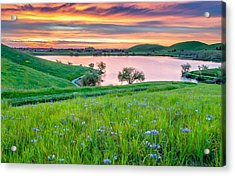 Acrylic Print featuring the photograph Wally Baskets Above Contra Loma  by Marc Crumpler