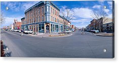 Walnut & Linden Streets, Fort Collins Acrylic Print