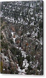 Walnut Canyon In Flagstaff In Winter 4 Acrylic Print