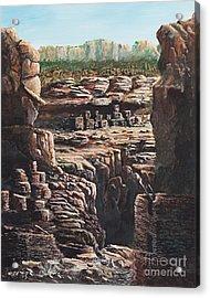 Walnut Canyon Acrylic Print by John Wise