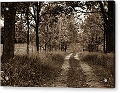 Walnut Lane Antiqued Acrylic Print