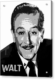 Walt Acrylic Print by David Lee Thompson