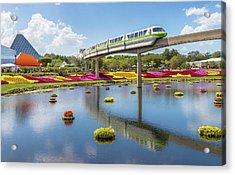Acrylic Print featuring the photograph Walt Disney World Epcot Flower Festival by Robert Bellomy